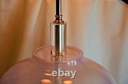 Vintage Murano Seguso Hand Blown Glass Table Lamp Italian Mid Century Modern