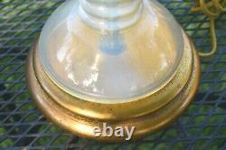 Vintage Opalescent Seguso Murano Italy Marbro Hollywood Regency Italian Lamp