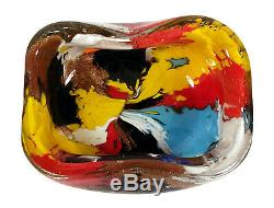 Vintage Oriente Murano Italian Art Glass Bowl Dino Martens Aureliano Toso