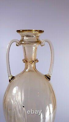 Vintage Rare 1920s Murano Vittorio Zecchin for Cappellin-Venini Soffiati Vase