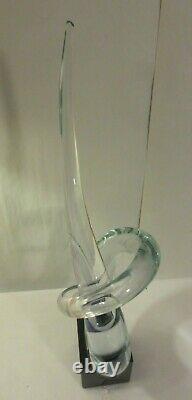 Vintage Renato Anatra Large Vetri Murano Studio Art Glass Sculpture Signed 24