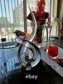 Vintage Renato Anatra Vetri Murano Studio Art Glass Sculpture Signed 131/2