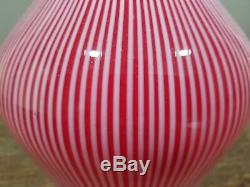 Vintage Stripped Murano Art Glass Lamp Shade by Seguso with Label