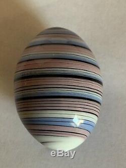 Vintage Tapio Wirkkala for Venini Signed Italian Swirl Multi Color Glass