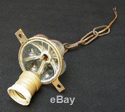 Vintage Venetian Murano Hand Blown Caged Glass Lantern Hanging Ceiling Light