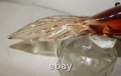 Vintage hand blown Murano Venetian glass figural bird decanter bottle Italy