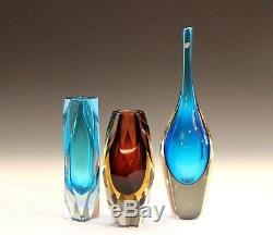 Vittorio Zecchin for Cappellin & Venini Murano Glass Vase Italian Acid Etched