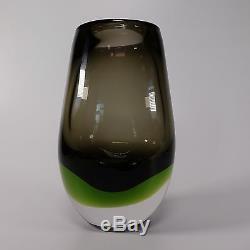 Vtg Murano Venetian Italian Sommereso Art Glass Flavio Poli Seguso Cenedese Vase